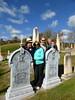 The crew in the yard (Kathleen Mavourneen) Tags: graveyard vermont headstones ascutney whitebronze