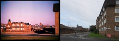 Orphan Street from Melville Place, Liverpool 7. 2 March 1986 and 17 October 2014. Now and Then. (philipgmayer) Tags: camera school liverpool zenit demolished 1000 zenith deafdumb melvilleplace orphanstreet