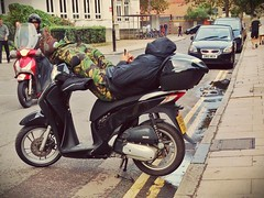 Laid back biker, resting and texting in Southwark (35mmMan) Tags: cameraphone street urban london feet up bike mobile relax photography break candid sony motorbike southwark lunchbreak se1 texting spuk xperia