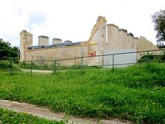 Modern ruin (Barbara L. Slavin) Tags: france canon canal centre pointandshoot barge 2014 canonpowershota2300