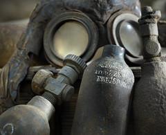German oxygen bottle Drger Tubben model 1914 (VISITFLANDERS) Tags: war europe belgium fields worldwar flanders westhoek flandersfields westfront wo1 woi visitflanders