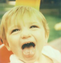 nephew. (ten minutes) Tags: film polaroid sx70 impossible 600color