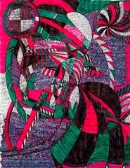 Hollywood Seld-Esteem (Xela Ogerrob) Tags: blue abstract green art illustration pattern drawing teal magenta