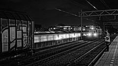 Leiden (Hans Korteweg) Tags: station leiden diesel nachtopname locon rangeren bestaandlicht locon220
