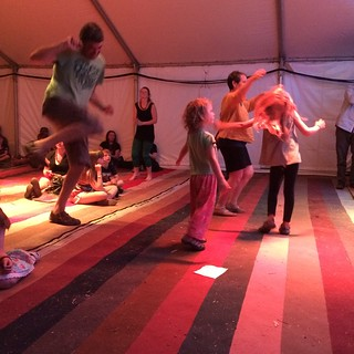 M and the Smalls - dancing up a storm in the Guinness tent.