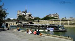 Bateaux Parisien passing the Notre Dame (eutouring) Tags: paris france boat tour notredame notre tours riverseine bateauxparisien