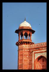 Agra IND - Taj Mahal Main Gate Chhatri