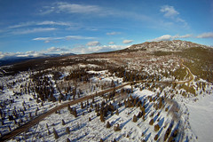 KAP Fish Lake, Yukon, 8 April 2014. Cameron Eckert (Cameron Eckert) Tags: above winter wild sky lake kite canada mountains art beauty forest photography flying flyer shadows lift view wind north flight aerial yukon string wilderness kap northern perfection whitehorse kiteaerialphotography skill gopro kiteaerialphotograpy