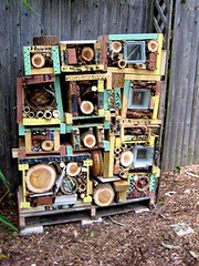 insect hotel in progress - before roof