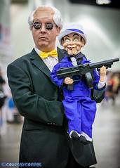 Ventriloquist Cosplay (Trinity All-Stars) Tags: halloween cosplay batman gotham ventriloquist scarface 2014 btas wesker arkham comikaze ventriloquistcosplay anorldwesker