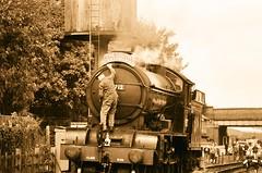 62712, 'Morayshire' at Loughborough, 3rd October 2014 (OG47) Tags: film water railway locomotive ilfordxp2 pentaxmesuper 440 steamengine steamlocomotive morayshire greatcentralrailway lner gcr railwayengine uksteam 62712 d49class