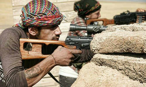 Kurdish YPG Fighters