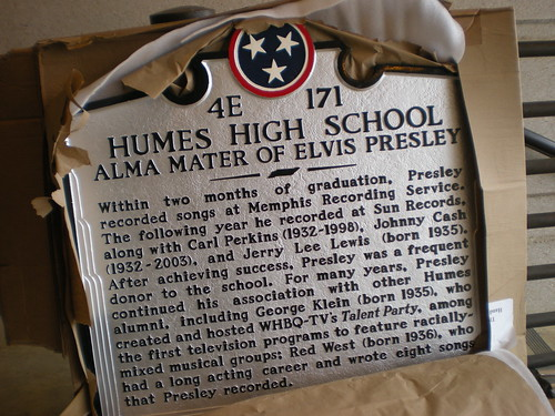 Back of Humes marker text