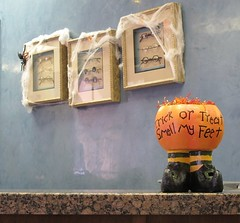 October 9, 2014 (11) (gaymay) Tags: california gay love halloween happy desert palmsprings cobwebs triad pumpking witchfeet
