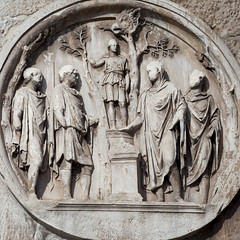 Arch of Constantine - 6 (Paul Dykes) Tags: italy sculpture rome roma italia triumphalarch basrelief archofconstantine ancientrome emperorconstantine
