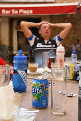 Cafe stop in Alaro. (Gonzo Walsh1) Tags: club forest canon square island cycling islands town cafe martin cycle brass mallorca touring ctc majorca baleares alaro pendle nestea balearic gomila 400d