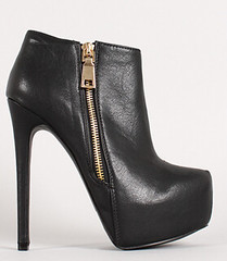 "leatherette zip up stiletto platform ankle bootie blk • <a style=""font-size:0.8em;"" href=""http://www.flickr.com/photos/64360322@N06/15323123629/"" target=""_blank"">View on Flickr</a>"