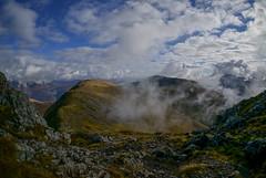 Aonach Eagach (Caledonia84) Tags: mountains clouds landscape scotland am highlands fisheye ridge glencoe leith 1855mm 16mm munros aonach eagach stob dearg meall coire bodach mountainsscotland sel16f28 sonynex5r