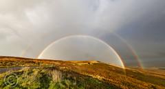 Buckstones Rainbow Panorama (Mark Schofield @ JB Schofield) Tags: park cloud storm way rainbow yorkshire double hills peat national watershed trust moors pennine huddersfield marsden a640 buckstones afterthestormoctober