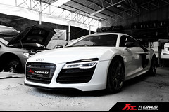Audi R8 V10 PLUS fitted with Fi Exhaust (Fi Exhaust) Tags: white beautiful car speed wow design amazing fantastic perfect power top unique fast super best valve sound topless passion stunning delicate quick incredible torque loud supercar exhaust masterpiece volume horsepower highclass frequency sportcar accelerate bontique worldcars xpipe valvetronic