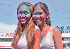 Philippines, Manila, Mall of Asia,  pinoy  teen girls posing after the Hindu Holi festival #phiippines (bilwander) Tags: travel girls sexy colors festival philippines teen solo manila hindu holi pinoy mallofasia bilwander phiippines
