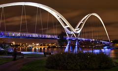 Infinity Bridge (Preston Ashton) Tags: uk bridge england river nikon footbridge unitedkingdom britain infinity united great north kingdom pedestrian ne east valley cycle gt northeast stockton hdr hdri tees 7000 teesvalley d7k d7000 uprightkangaroo