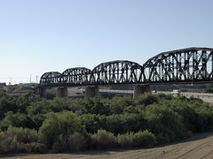 Colorado River bridge between Parker Arizona and Earp California (Distraction Limited) Tags: california arizona bridges coloradoriver parker earp riverratzreuniontrip2014