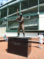"Ernie Banks statue • <a style=""font-size:0.8em;"" href=""http://www.flickr.com/photos/34843984@N07/15360909198/"" target=""_blank"">View on Flickr</a>"