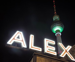 ALEX (PHillmann) Tags: color colour berlin alex night lights nacht alexanderplatz fernsehturm farbe festivaloflights bunt lichter beleuchtet