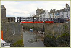 Cain swing footbridge (HDR) (bokosphotos) Tags: footbridge panasonic iom castletown steampacket gh3 cainbridge castletownharbour iomsteampacketco panasonicgh3