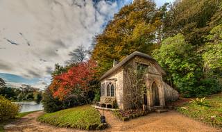 Gothic cottage stourhead HDR