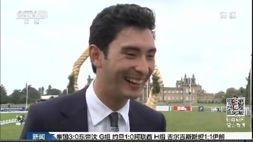 Alex interviewed by CCTV5 at Blenheim before Asian Games September 2014