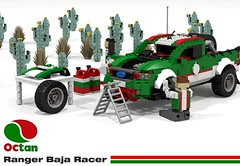 Octan Racing Ranger Baja Racer (lego911) Tags: auto birthday cactus ford car truck model ranger desert lego offroad render dune pickup racing company oil baja 7th 74 39 challenge diorama cad racer lugnuts povray 84 moc ldd miniland dioramarama octan octans lego911 octanracing lugnutsturns7…or49indogyears