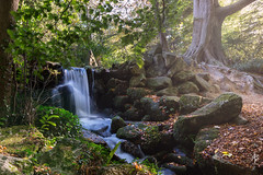 Waterfall (fearghal breathnach) Tags: autumn trees light nature water canon photography eos waterfall woods 5d rays 24mm rayoflight 24105 eos5d 24105mm ef24105mmf4lisusm marleypark fearghalbreathnach fergphotos httpswwwfacebookcomfergphotos