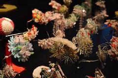 GEISHA Exhibition (Roselinde Alexandra) Tags: museum hair japanese leiden traditional exhibition maiko geiko ornaments geisha accessories hairstyle rijksmuseum accessory kanzashi volkenkunde