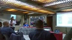 ILRI scientist Silvia Alonso presents at the 6th All Africa Conference on Animal Agriculture (International Livestock Research Institute) Tags: africa kenya poultry pigs uganda eastafrica ilri fsz aacaa crp4 a4nh ilri40