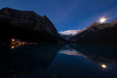 Lake Louise Sept 2014-2 (brendanvanson) Tags: morning travel lake canada nature sunrise landscape alberta banff lakelouise banffnationalpark