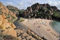 DSC_0268b (Karl Jena Allgufotos) Tags: italien strand meer schwimmen urlaub treppe baden sardinien tourismus felsen wanderung costaparadiso gelnder mittelmeer gallura