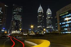 IMG_4734 (Ali Sabbagh) Tags: life city longexposure urban cars architecture night canon lights dubai uae trails beam dxb eoseos7d