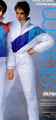 whitty (onesieworld) Tags: ski sexy bunny fashion one outfit shiny neon retro suit 80s piece nylon 90s catsuit snowsuit onesie