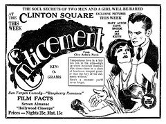 clinton square theatre, 1925 (albany group archive) Tags: albany ny timesunion advertisement newspaper 1925 clinton square theatre silent movie film enticement mary astor clive brook ian keith ben turpin arden oldalbany history