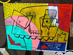 Priority Mail, London, UK (Robby Virus) Tags: city uk greatbritain portrait england london art english us sketch sticker mail unitedkingdom britain drawing british slap usps priority
