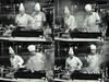 Turkish cooking band (Giorgio Verdiani) Tags: two men cooking kitchen hat station turkey ir nightshot smoke sony türkiye grain platform cook hats istanbul terminal grill railwaystation chef trainstation smell infrared kebab stazione atwork adana cooks due turkish smells eaa cappello cucina 8mp odori kebap chefs fumo h9 gridiron uomini grana griglia sfocata binario cuoco sirkeci cappelli odore cuochi stazioneferroviaria digitalgrain bridgecamera allavoro fourshots quattroscatti dsch9 istanbulsirkeciterminal granadigitale eaa2014