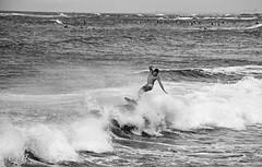 Body boarding at Walls in Waikiki (Guy: Jussum Guy) Tags: people blackandwhite monochrome hawaii waikiki oahu honolulu walls bodyboard kapahulugroin pentaxk30