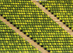 Olympiastadion (Rosmarie Voegtli) Tags: olympia münchen munich abstract seats stadion patterns sport empty green againandagainandagain