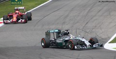 Lewis Hamilton, Kimi Raikkonen -  F1 GP Monza 2014 (Marco Moscariello) Tags: england italy car finland mercedes italia f1 ferrari pole winner driver formula1 gp poleposition monza 2014 kimiraikkonen lewishamilton poleman gpitalia moscariello monza2014