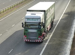 H124 - PX61 CJU (Cammies Transport Photography) Tags: truck lorry louise harriet eddie flyover scania esl m74 lockerbie stobart eddiestobart h124 r440 px61cju