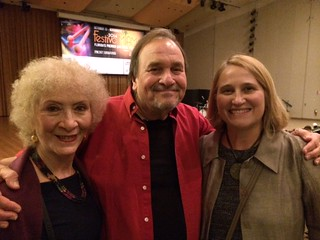 Karen Fischer with Jim Progriss  and Julia Berg at the jazz cruise All-Stars concert UM's Gusman hall Festival Miami concert