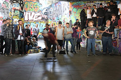 Landed (Rambling Badger) Tags: london canon skateboarding audience crowd southbank event undercroft llsb