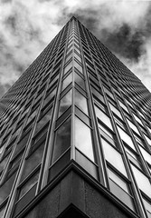 University of Sheffield - Arts Tower (JO) Tags: blackandwhite tower geometric architecture contrast university sheffield arts highcontrastredfilter canoneos600d rebelt3i